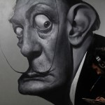 "2012 World of Art Showcase artist Jota Leal working on ""The Persistance of Dali"""