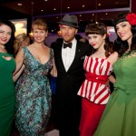 PHOTO CAPTION (L-R): Bettie Page Clothing model Sierra; BPC designer Tatyana Khomyakova; Singer Matt Goss; Playboy Playmate Claire Sinclair; BPC model Elle at Vegas Player Magazine's launch at Pure in Caesars Palace on December 2. PHOTO CREDIT: Erik Kabik/ Retna/ ErikKabik.com