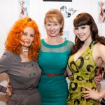 PHOTO CAPTION (L-R): Burlesque star Tempest Storm; Designer Tatyana Khomyakova ; Spokesmodel & Playboy Playmate Claire Sinclair. PHOTO CREDIT: Erik Kabik/ Retna/ ErikKabik.com.