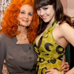 PHOTO CAPTION (L-R): Burlesque star Tempest Storm; Spokesmodel & Playboy Playmate Claire Sinclair. PHOTO CREDIT: Erik Kabik/ Retna/ ErikKabik.com.