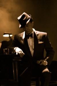 """Photo Caption: Danny Grewen as """"Frank Sinatra."""" Photo Credit: Andrew Snook / Examiner.com"""