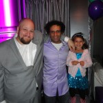 "Stephen Kramer Glickman and Sid Veda at the premiere party for Comedy Central's show ""Small Business"""