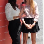 Alana Lee being interviewed on the red carpet at the Style Lounge Gifting Suite in honor of the Teen Choice Awards