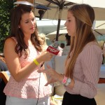 Alana Lee being interviewed at the Style Lounge Gifting Suite in honor of the Teen Choice Awards