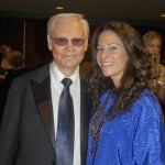 Rising country singer Marthia Sides with country music legend George Jones at Alabama Music Hall Of Fame 13th Induction Banquet and Awards Show on March 25.