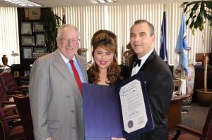 Mayor Oscar B. Goodman; Lisa Dawn Miller (Producer / Frank's 'One Love'); Sandy Hackett (Producer / Joey Bishop)