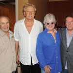 (L-R): Air Supply's Manager Barry Siegel; Graham Russell and Russell Hitchcock of Air Supply; APA President Jim Gosnell at The Orleans Hotel & Casino in Las Vegas August 31. Photo Credit: LUCK Media & Marketing, Inc.