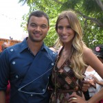 Guy Sebastian and Extra TV's Renee Bargh