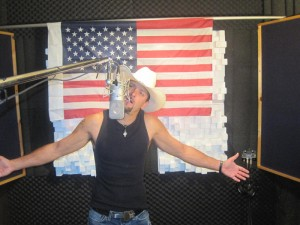 """PHOTO CAPTION: Coldwater Canyon Band frontman Howie Vaughn filming of the band's next video for the military tribute, """"Peace Of Mind""""."""