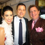 Sarah Spiegl, Jimmy Kimmel, and Louis Prima Jr. at the Prima Notte Fundraising Gala