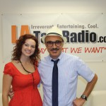 Artist Kelly McGrath pictured with jazz musician Professor RJ Ross during L.A. Talk Radio on Sunday, June 20.