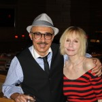 Emerging jazz artist PROFESSOR RJ Ross with the legendary Sally Kellerman at the Vibrato Grill Jazz...etc. on Wednesday, June 23 in Bel Air, Calif.