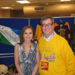 Pop Singer Lola Spriggs poses with Mayor Jim Watson at Navan Memorial Arena to Celebrate Navan's 150th Anniversary and Kraft Hockeyville Sunday, January 9 in Ottawa, Canada.