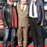 Russell Hitchcock of Air Supply (R), David Chien of Gray Line New York (Center), and Graham Russell  of Air Supply (L) in NYC on October 13 during Gray Line New York's prestigious Ride of Fame™ induction.
