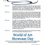 Mayor's Proclamation for World of Art Showcase Day