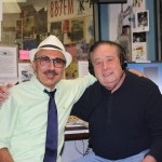 Professor RJ Ross pictured with Larry Fox at KSPC Radio on Monday, June 21.