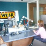 PHOTO CAPTION (left to right): Ed Carter of WKSR 98.3 FM in Pulaski, TN; JOANNA MOSCA