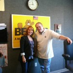 "New York based singer-songwriter Joanna Mosca with Greg ""Fletch"" Fletcher of WVVR in Clarksville, TN."