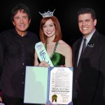 PHOTO CAPTION (left to right): GREG LONDON; Christina Keegan, Miss Nevada 2009; Vic Richard, Harrah's Entertainment Executive