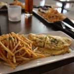 Gruyère and Chive Omelet with Shoestring Fries