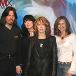 PICTURED LEFT TO RIGHT: Rick Gillette - DMX MUSIC Vice President of Music Entertainment, Ann Wilson and Nancy Wilson of HEART and Christy Noel - DMX MUSIC Vice President of Marketing.