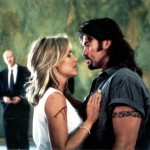 Billy Ray Cyrus and Dedee Pfeiffer in a steamy love scene.