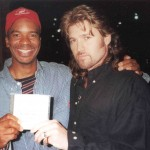 Left-Right: Comedian/actor David Alan Grier (of Living Color fame) & Billy Ray Cyrus