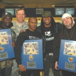 MTV's Sam Sarpong, Ft. Irwin base commander Colonel Philbreck, Canibus, Def Con Zero Executive Producer Dewey Cooper, and Slick