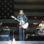 Billy Ray Cyrus performs in front of Old Glory at the San Diego County Fair in Del Mar, CA.