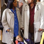 Pictured above (L-R) CeCe Winans and Billy Ray Cyrus on the set of 'Doc'