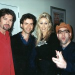 Picture Left to Right: Bill Ray Cyrus, Dweezil Zappa, Billy's wife Tish Cyrus, and Ahmet Zappa.
