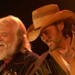Left to Right: Rock Legend Ronnie Hawkins and Country Singer Billy Ray Cyrus during the filming for Doc's 9th episode 'Leader of the Band'