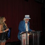 "PHOTO CAPTION: Cleveland-based singer-songwriter John Chaffee accepting his award for Best Country Song  award for his politically charged anthem ""Play By The Rules"" at the Hollywood Music in Media Awards on November 19 at The Highlands in the world famous Hollywood & Highland/Kodak Theater complex."