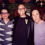 Pictured Right to Left: Prescott Niles of The Knack, Barry Gordon of Image Entertainment and Doug Fieger of The Knack.