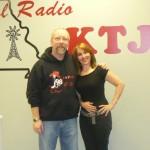 New York based singer-songwriter Joanna Mosca with Scott Kubala of KTJJ in Farmington, MO.