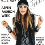 Monica on the cover of Southwest Flair Magazine March 2012