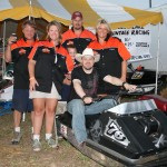 PHOTO CAPTION: Minneapolis Country music favorite Shane Wyatt and members of the Long Lake Vintage Committee at Outlaw Grass Drag in Princeton, MN on 8/22/2008