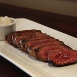 Skillet steak with Roquefort butter